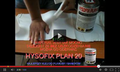 Klej do plandek Hysofix plan20